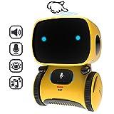 GILOBABY Smart Roboter Spielzeug fr KinderTouch funktions Roboter mit Spracher kennungs Funktion, Elektronisches Roboter Spielzeug mit Tanz und Musik und Gehen, Geschenke fr Jungen / Mdchen (Gelb)
