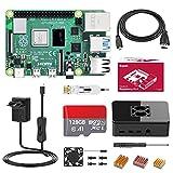 Bqeel Raspberry Pi 4 4GB,Raspberry Pi 4 Modell B Starter kit mit 128GB Micro SD Karte,Bluetooth...