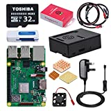 DINOKA Raspberry Pi 3 Modell B Plus (B +) Ultimatives Starter kit mit 32GB Class 10 Toshiba Micro SD...