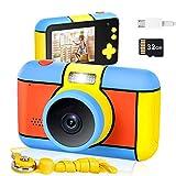 Cenblue Kinderkamera,2800 W HD-Pixel Digitalkamera 2,4'' Bildschirm Selfie Kinder Kamera,1080P HD...