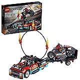 LEGO 42106 Technic Stunt-Show mit Truck und Motorrad, 2-in-1 Modell mit Rückziehmotor und...