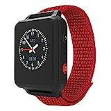ANIO 5 (rot) - 1.3 Zoll Touch-Farbdisplay, Telefon Uhr für Kinder - Anrufe, Nachrichten,...
