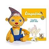 DIALOG TOYS Lingufino Junior Starter Set mit Plüschfigur, Lernspielzeug mit Spracherkennung ohne...