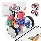 Robo Wunderkind Lernroboter für Kinder ab 5 Jahren - Klemmbausteinen-kompatibler Baukasten mit von...