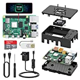 TICTID Raspberry Pi 4 Model B 2GB Kit/Upgraded Raspberry Pi 3 mit Quad-Core ARM-Cortex-A72/ 32GB...