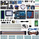 Miuzei Starter Kit für Arduino Projekte mit R3 Mikrocontroller, LCD1602 Modul, Steckbrett, 9V...