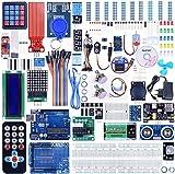 Quimat Ultimate Starter Kit mit ArduinoIDE R3 Entwicklungsboard, LCD1602, Servo, Schrittmotor,...